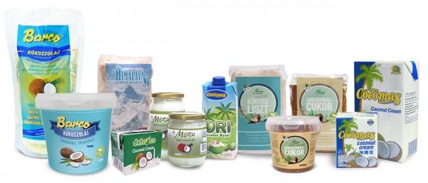A KókuszVilág termékei